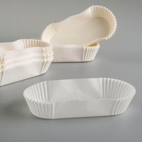 Тарталетка, форма овал, белая, 4 х 10,5 х 2,5 см Ош