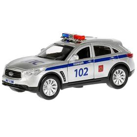 Машина металлическая Infiniti QX70 «Полиция», открывающиеся двери, инерционная, 12см