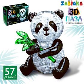 Пазл 3D «Панда», 57 деталей