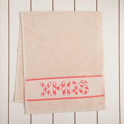 "Terry towel ""Christmas"" 30x70 cm 100% cotton, 370гр/m2"