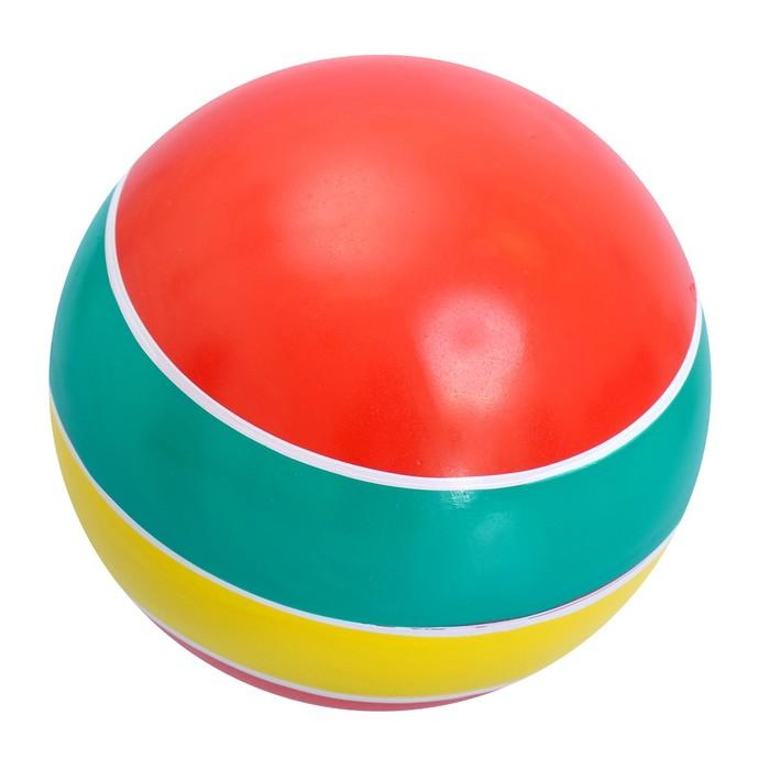 Мяч диаметр 100 мм лакированный с полосой, цвета МИКС