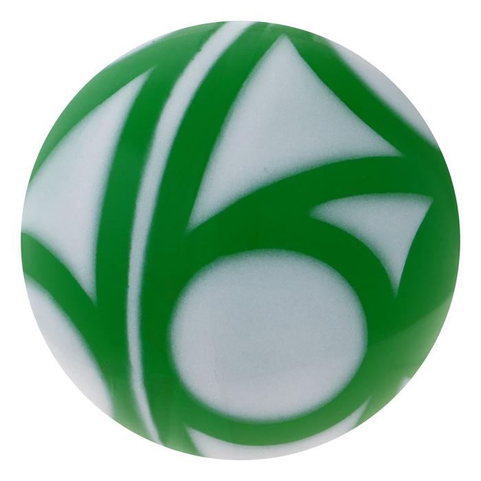 Мяч с узром лакированный, цвета МИКС