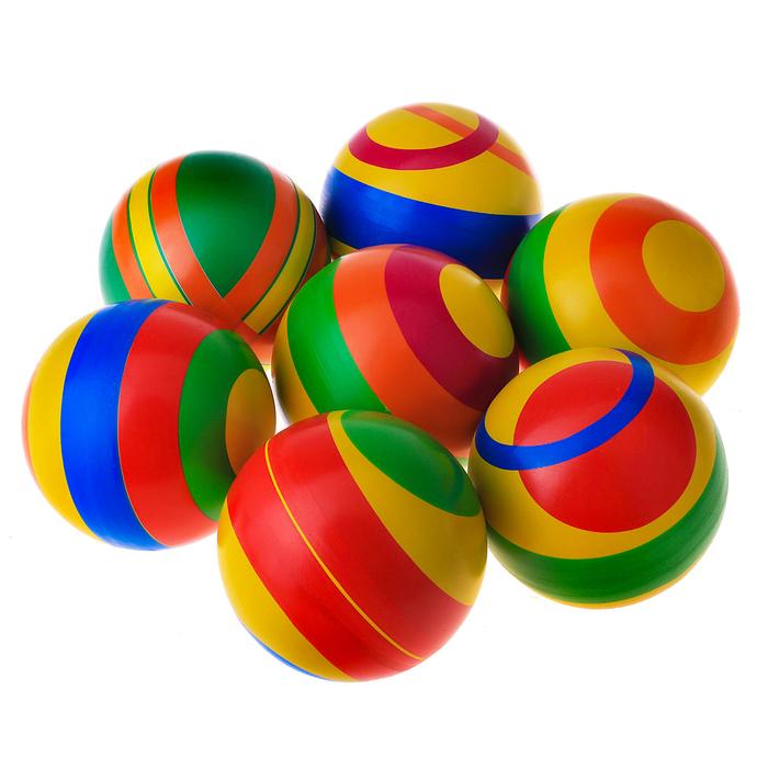 Мяч диаметр 100 мм, цвета МИКС