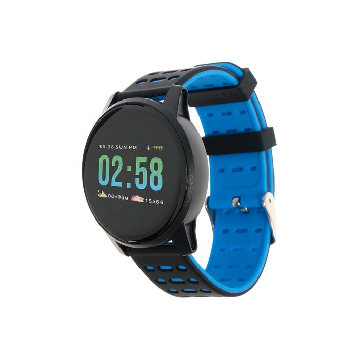 """Смарт-часы Qumann QSW 01, цветной дисплей 1.3"""", черно-синие"""