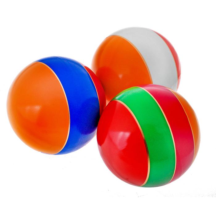 Мяч лакированный, с полосой