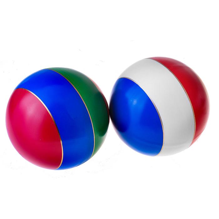 Мяч лакированный, с полосой, 20 см, цвета МИКС