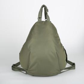Рюкзак молодёжный, отдел на молнии, 2 боковых кармана, цвет хаки