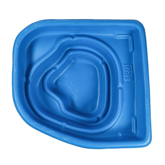 Пруд садовый пластиковый, 180 л, синий