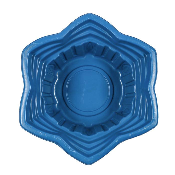 Пруд садовый пластиковый «Звезда», 135 л, синий