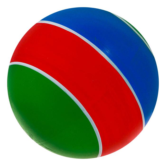Мяч в полоску лакированный, цвета МИКС