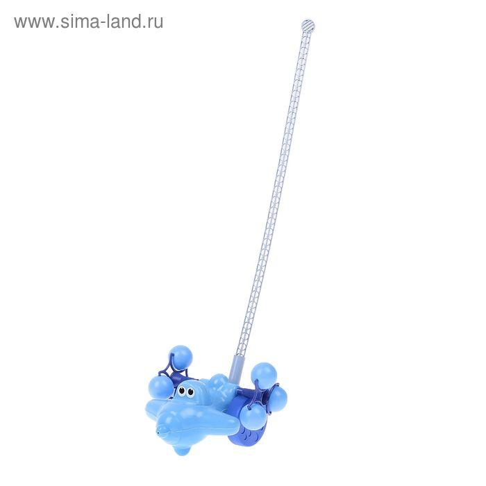 """Каталка """"Самолёт"""", длина ручки 54 см"""