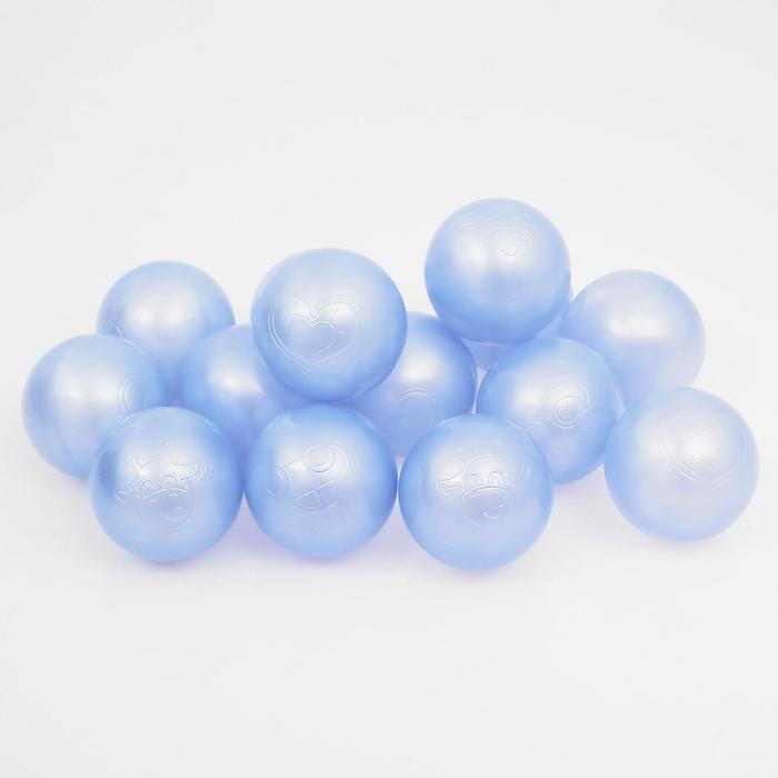 Набор шаров для сухого бассейна 500 шт, цвет: голубой перламутр