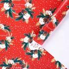 Бумага упаковочная глянцевая «Новогоднее чудо», 70 × 100 см