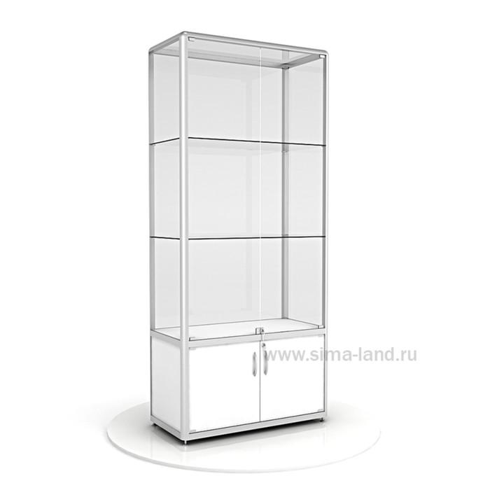 Витрина из профиля, стекло,  2000х900х400, цвет белый