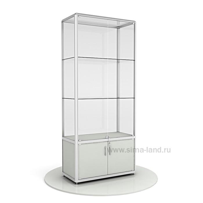 Витрина из профиля, стекло,   2000х900х400, цвет серый