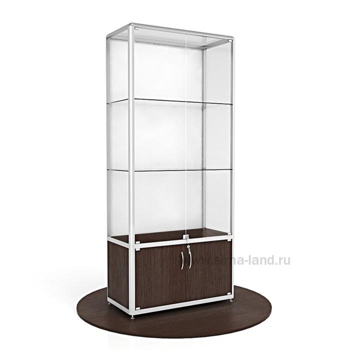 Витрина из профиля, стекло,   2000х900х400, цвет венге