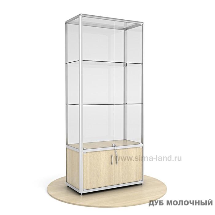 Витрина из профиля, стекло,  2000х900х400, цвет дуб молочный