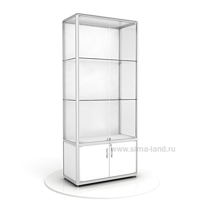 Витрина из профиля, ХДФ, 2000х900х400, цвет белый