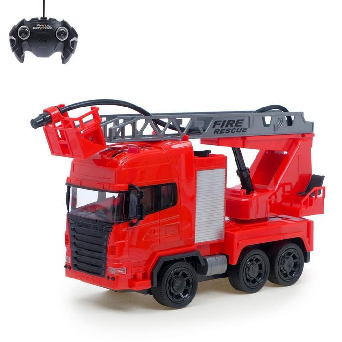 Машина радиоуправляемая «Пожарная охрана», стреляет водой, работает от аккумулятора, МИКС - фото 105647751