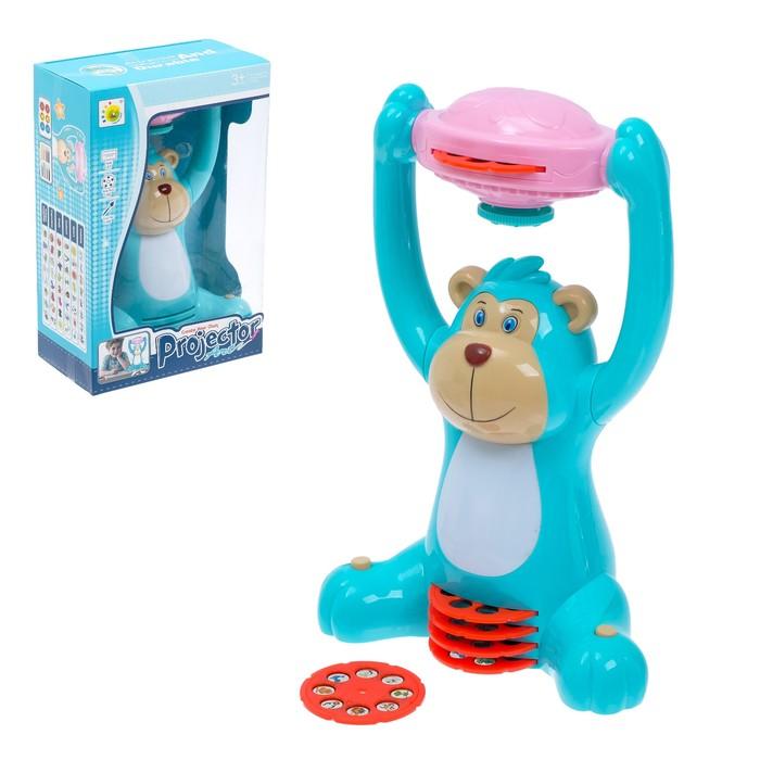 Игрушка-проектор «Весёлая обезьянка», со световыми эффектами, со слайдами и фломастерами