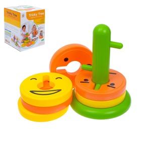 Развивающая игрушка - пирамидка «Весёлые рожицы», 8 колец