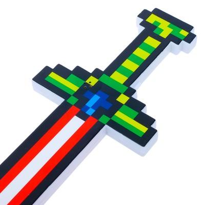 Меч «Пиксель», работает от батареек