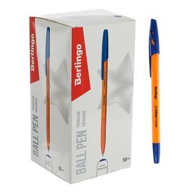 """Ручка шариковая Berlingo """"Tribase Orange"""" 0.7, синяя, корпус оранжевый 265891"""