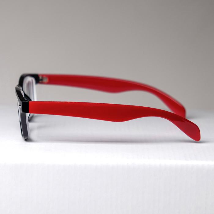 Очки корригирующие 6619, цвет красно-чёрный, -4 - фото 537346134
