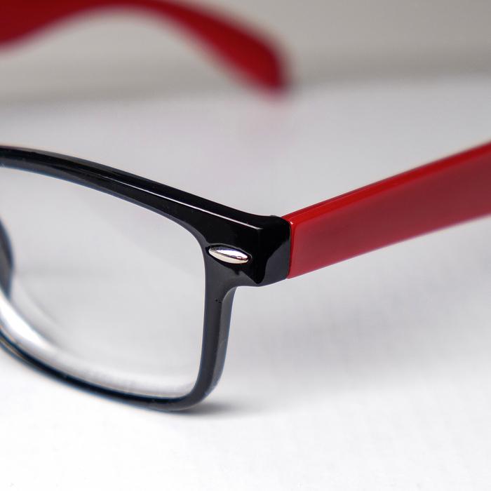 Очки корригирующие 6619, цвет красно-чёрный, -4 - фото 537346135