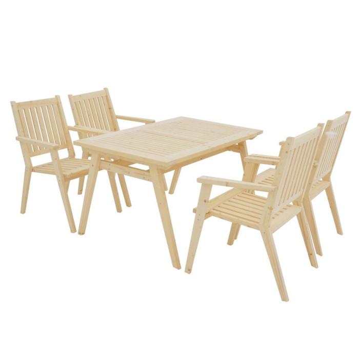 УЦЕНКА Набор мебели, 5 предметов: 4 кресла, стол, 1,4 м