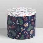 Круглая подарочная коробка «Волшебства», 19,5 × 22 см