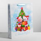 Пакет ламинированный вертикальный «Новогодние мышата», L 31 × 40 × 9 см