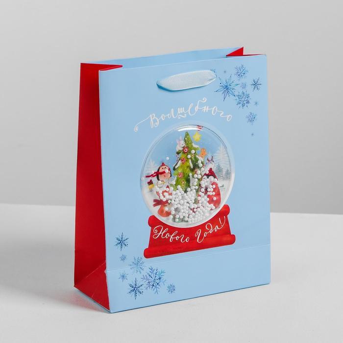 Пакет подарочный вертикальный «Волшебного Нового Года!», 18 х 23 х 8 см   4350315
