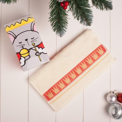 "Terry towel ""symbol of the year"" 30x70 cm 100% cotton, 370гр/m2"