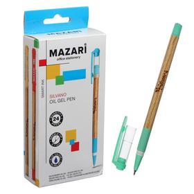 Ручка шариковая Mazari Silvano Smart Ink, узел 0.7 мм, синие чернила, узел-игла, резиновый упор