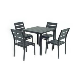 Комплект для отдыха: стол, 4 стула,  DS-03-01-02