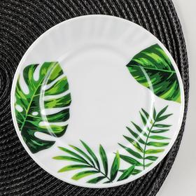Тарелка пирожковая Доляна «Лист папоротника», d=15 см
