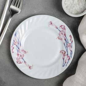 Тарелка пирожковая Доляна «Нежные каллы», d=15 см