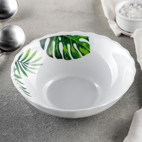 Тарелка суповая Доляна «Лист папоротника», 600 мл, d=17,5 см