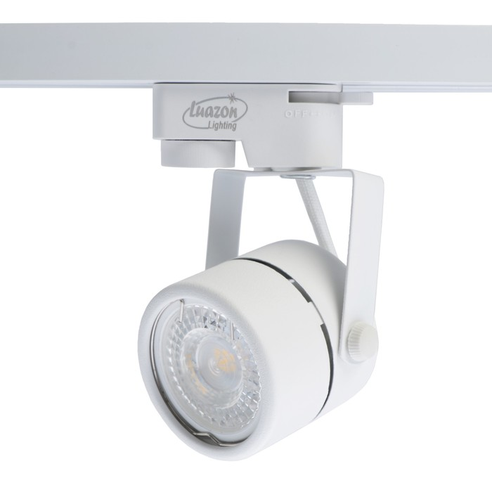 Трековый светильник Luazon Lighting под лампу Gu10, круглый, корпус белый