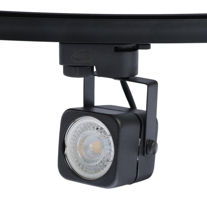 Трековый светильник Luazon Lighting под лампу Gu10, квадратный, корпус черный