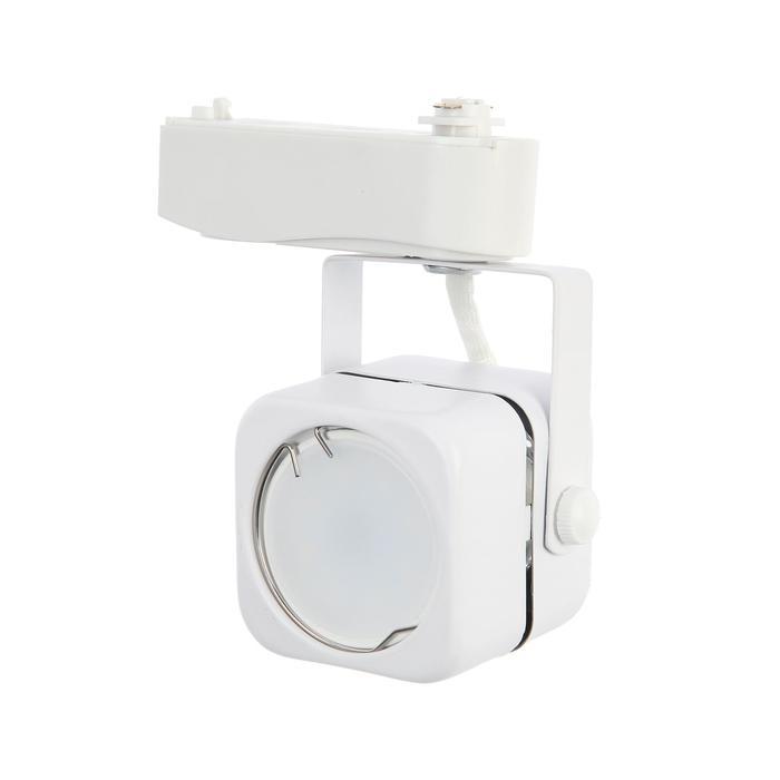 Трековый светильник Luazon Lighting под лампу Gu10, квадратный, корпус белый