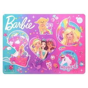 "Накладка на стол пластик А3, 460 х 330 мм, ""Барби"""