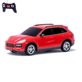 Машина радиоуправляемая Porsche Cayenne turbo, масштаб 1:24, работает от батареек, свет, цвет красный