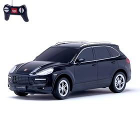 Машина радиоуправляемая Porsche Cayenne turbo, масштаб 1:24, работает от батареек, свет, цвет чёрный