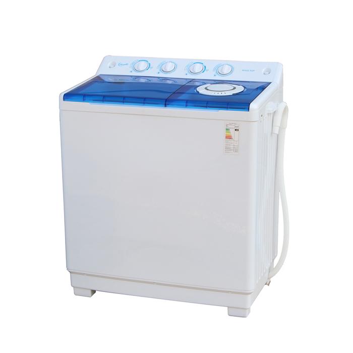 Стиральная машина WILLMARK WMS-90P, полуавтомат, 9 кг/6 кг, 1350 об/мин, насос, бело-голубая