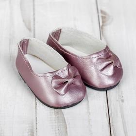 Туфли для куклы «Бантик», длина стопы: 7 см, цвет розовый