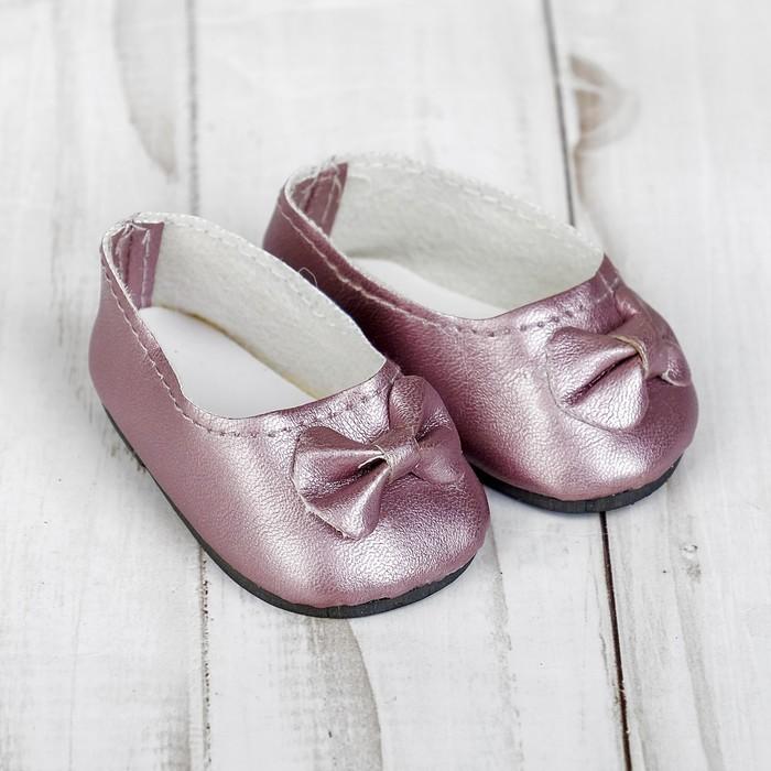 Туфли для куклы «Бантик», длина стопы: 7 см, цвет розовый - фото 105513390