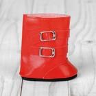 Сапоги для куклы «Застёжки», длина подошвы: 7 см, цвет красный - фото 105513188
