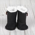 Сапоги для куклы «Пуговка», длина подошвы: 8 см, цвет чёрный - фото 105513261